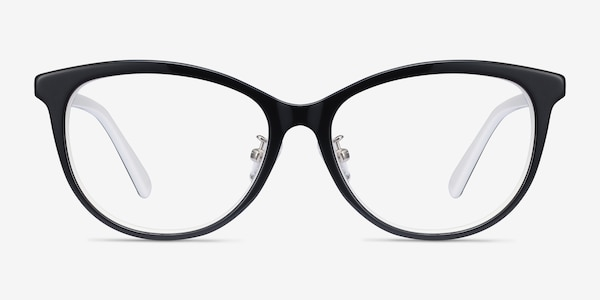 Helena Black White Acetate Eyeglass Frames