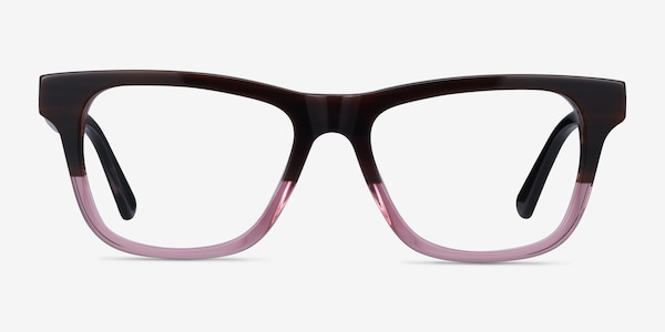 Feeling Brown Purple Acetate Eyeglass Frames