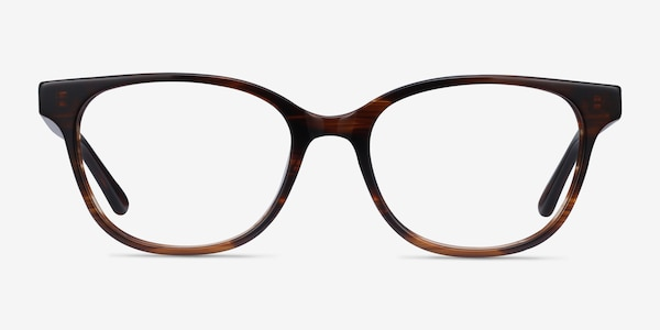 Patra Brown Striped Acetate Eyeglass Frames