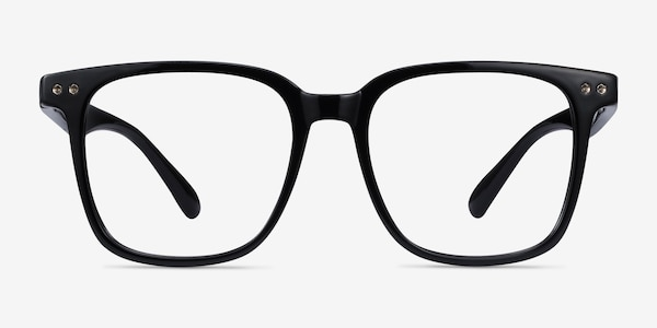 Piano Black Plastic Eyeglass Frames