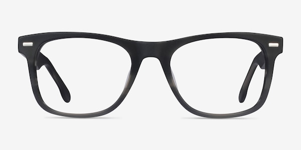 Caster Gray Striped Acetate Eyeglass Frames