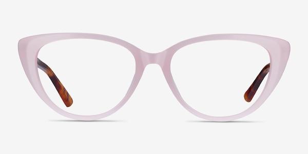 Anastasia Iridescent Pink & Tortoise Acétate Montures de Lunette de vue