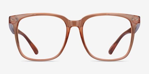 Piano Brown Plastic Eyeglass Frames