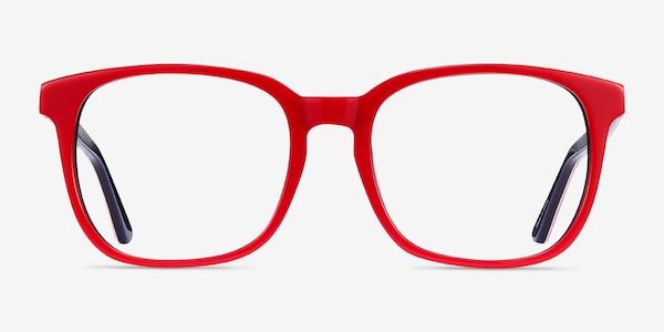 Firework Red & Navy Acetate Eyeglass Frames