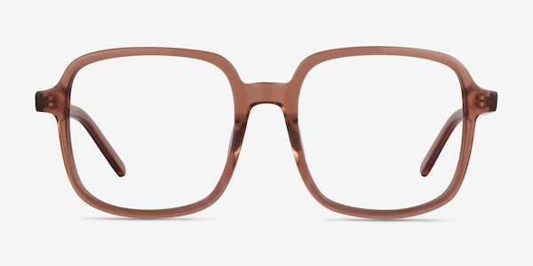 Gaston Clear Brown Acetate Eyeglass Frames