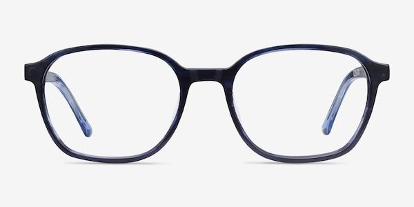 Efficient Blue Striped Acétate Montures de Lunette de vue