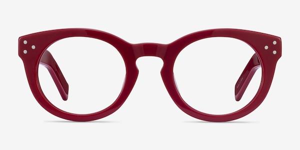 Morla Burgundy Acetate Eyeglass Frames