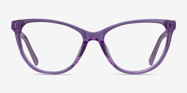 Sing Clear Purple Acetate Eyeglass Frames