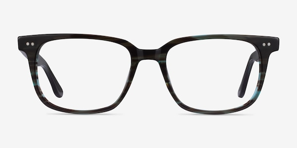 Pacific Striped Blue Acetate Eyeglass Frames