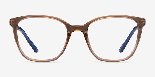 Identical Clear Brown & Blue Plastic Eyeglass Frames