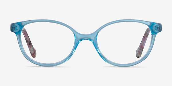 Grenadine Clear Blue Floral Acetate Eyeglass Frames