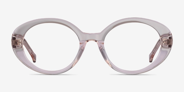 Bree Clear Beige Acetate Eyeglass Frames