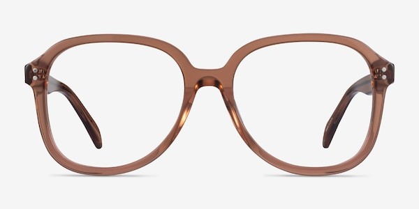 Tripp Clear Brown Acetate Eyeglass Frames