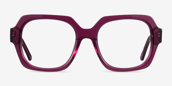 Ellen Clear Purple Acetate Eyeglass Frames