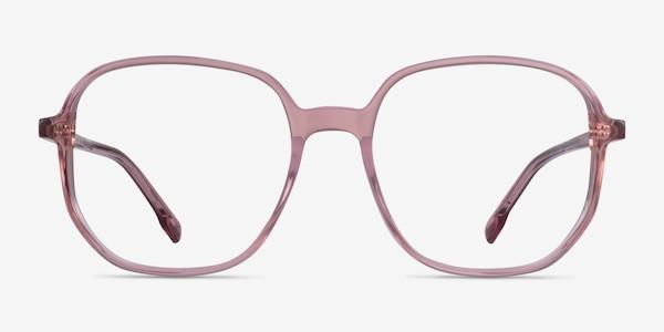 Natural Clear Pink Acetate Eyeglass Frames
