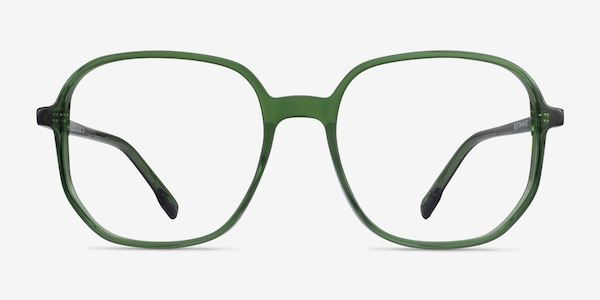 Natural Clear Green Acetate Eyeglass Frames