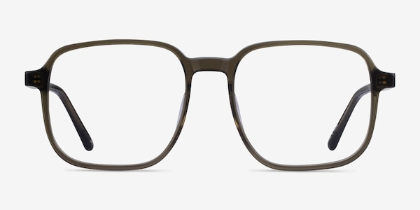 Ozone Clear Dark Green Acetate Eyeglass Frames