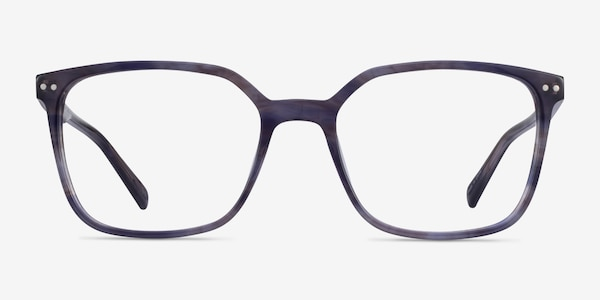 Conscious Blue Striped Acetate Eyeglass Frames