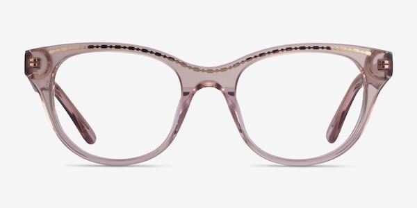 Arcady Clear Pink Gold Acetate Eyeglass Frames