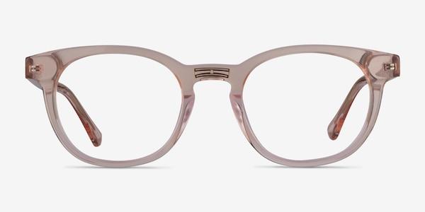 Hoop Clear Pink Gold Acetate Eyeglass Frames