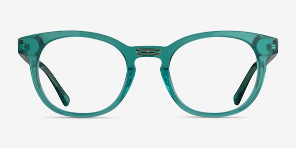 Hoop Emerald Green Gold Acetate Eyeglass Frames