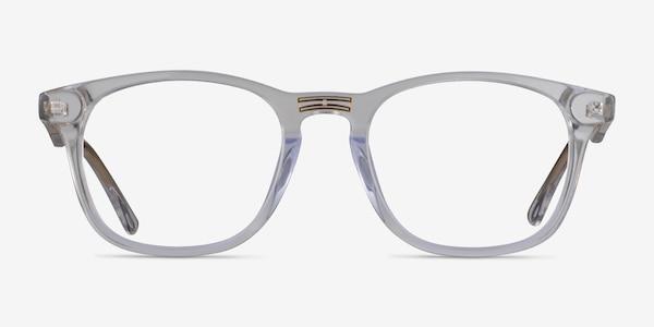 Casting Clear Gold Acetate Eyeglass Frames
