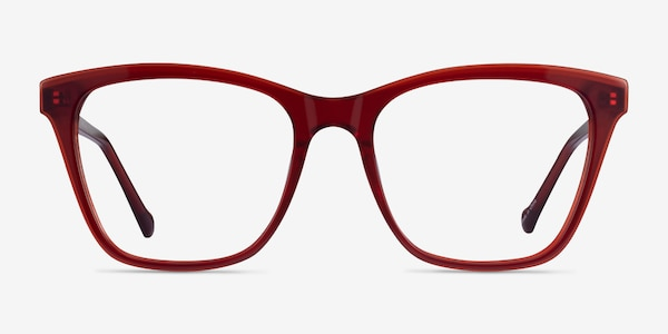 Luminescence Iridescent Red Acetate Eyeglass Frames