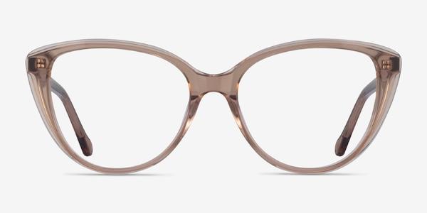 Destin Clear Brown Acetate Eyeglass Frames