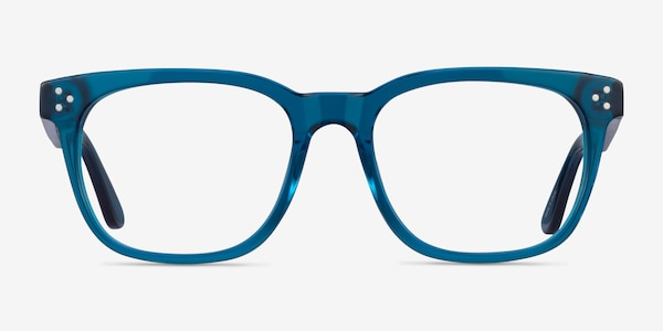 Adriatic Clear Blue Acetate Eyeglass Frames