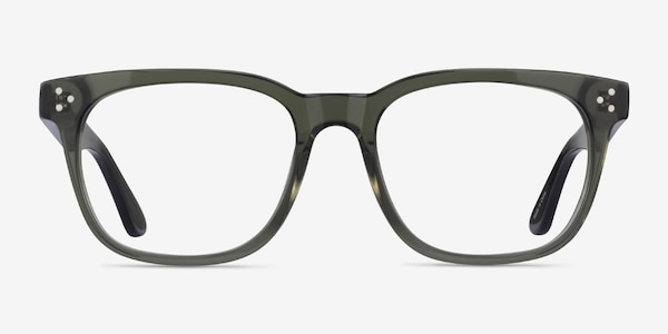 Adriatic Clear Khaki Green Acetate Eyeglass Frames