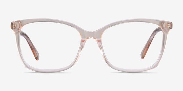 Michelle Clear Brown Acetate Eyeglass Frames