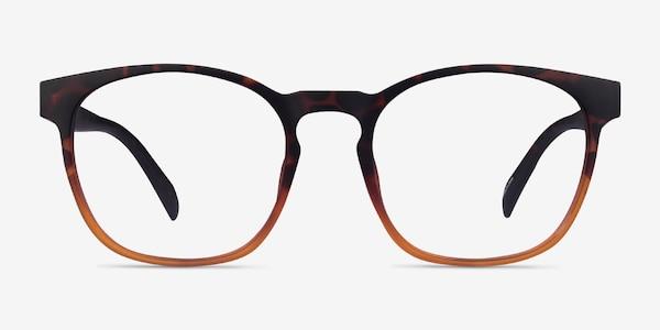 Oakwood Matte Tortoise Brown Plastic Eyeglass Frames