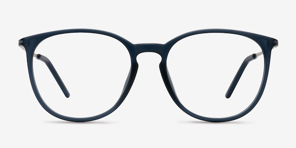 Naomi Matte Blue Plastic Eyeglass Frames
