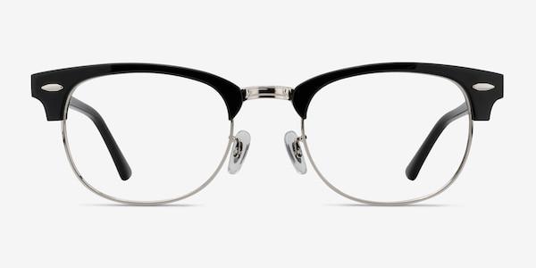 Sweet Janet Black Silver Acetate-metal Eyeglass Frames