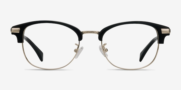 Kinjin Black Acetate-metal Eyeglass Frames
