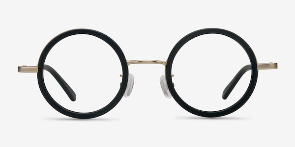 Roaring Black Acetate-metal Eyeglass Frames