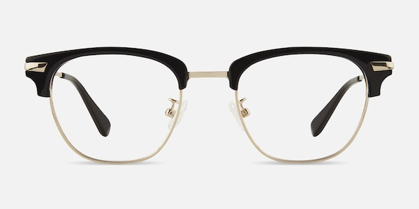 Identity Black Acetate-metal Eyeglass Frames