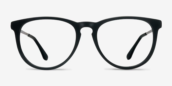 Ultraviolet Matte Black Acetate-metal Eyeglass Frames