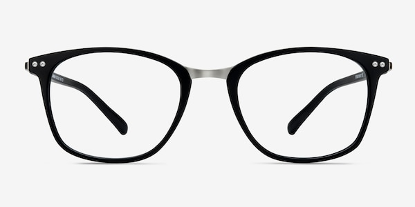 Savannah Matte Black Plastic-metal Eyeglass Frames