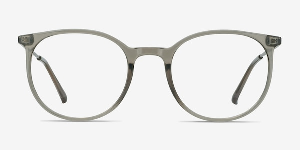Marilou Clear Gray Plastic-metal Eyeglass Frames
