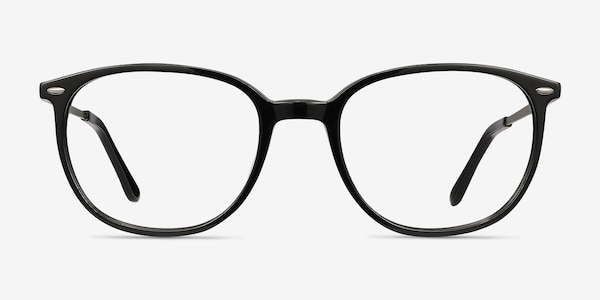 Eros Black Acetate-metal Eyeglass Frames