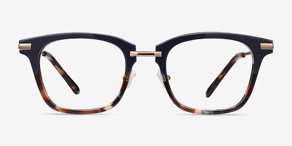 Candela Blue Floral Acetate-metal Eyeglass Frames