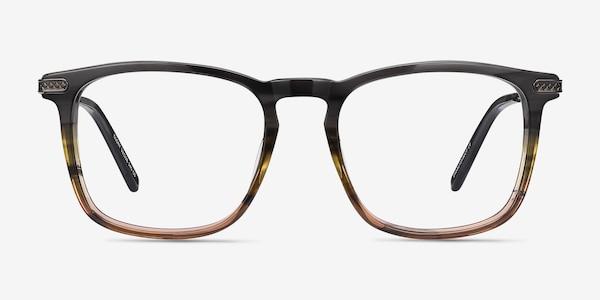 Glory Gray Striped Acetate-metal Eyeglass Frames