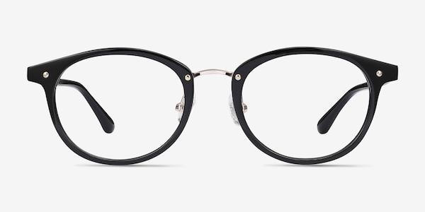 Fetching Black Golden Acetate-metal Eyeglass Frames