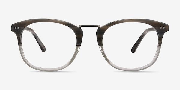 Era Gray Striped Acetate-metal Eyeglass Frames