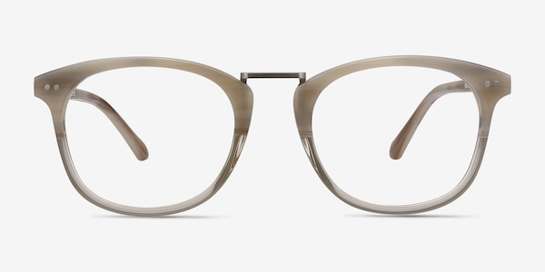 Era Gray Clear Acetate-metal Eyeglass Frames