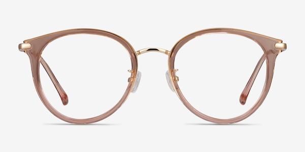 Hollie Pink Plastic-metal Eyeglass Frames