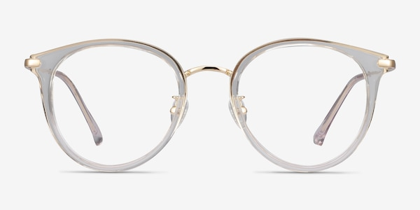 Hollie Clear Plastic-metal Eyeglass Frames