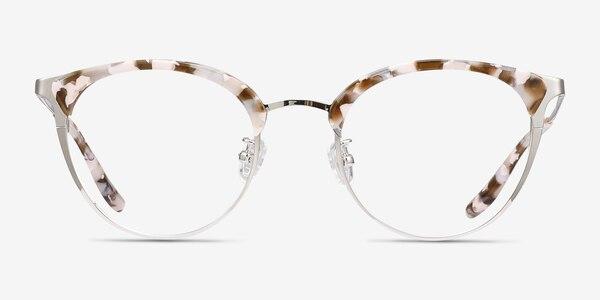 Bouquet Floral Silver Acetate-metal Eyeglass Frames