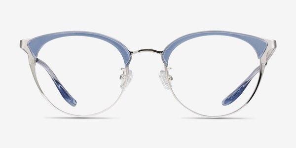 Bouquet Blue Silver Acetate-metal Eyeglass Frames